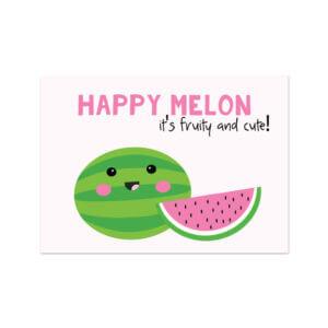 kaartje watermeloen