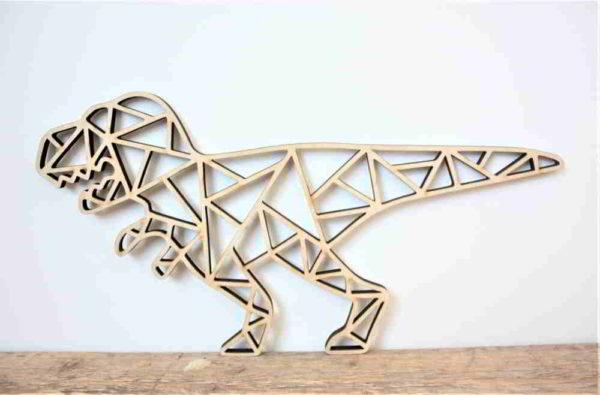 Geo dino houten dier 15x30cm 1 annouks
