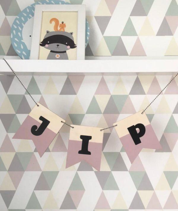 houten slinger met naam mini precious pink annouks