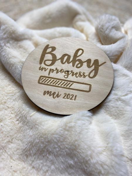 Annouks aankondigingsbord baby in progress